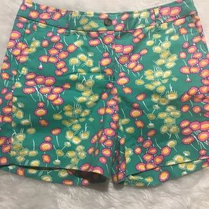 Boden floral chino shorts